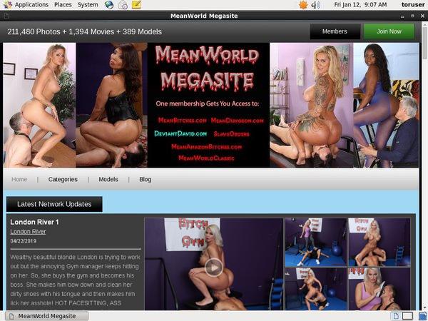 Mean World Account Info