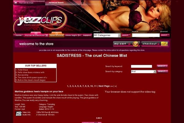 Yezzclips.com Paswords