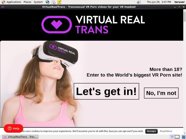 Virtualrealtrans With Credit Card